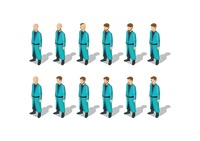 Isometric men