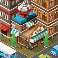 Isometric of bakery shop building