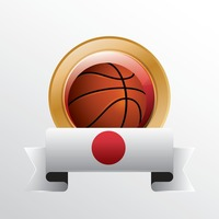 Japan flag with basketball