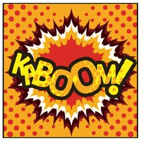 Kaboom comic speech bubble