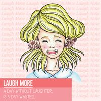 Laugh more motivational quote