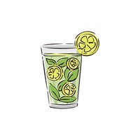 Lemon juice in glass