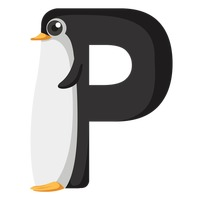 Letter p for penguin