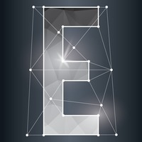 Low poly alphabet e