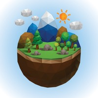 Low poly of countryside