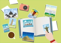 Making scrapbook from travel photos