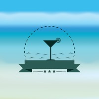 Martini glass with banner