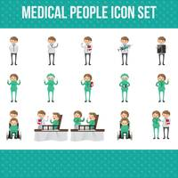 Medical people icon set