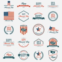 Memorial day labels