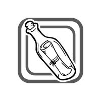 Popular : Message in a bottle icon