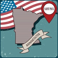 Minnesota map label