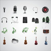 Music and audio equipment set