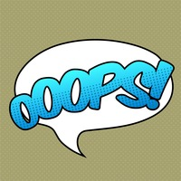 Ooops comic speech bubble