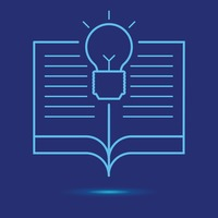 Open book with light bulb icon