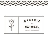 Organic and natural cosmetic product label
