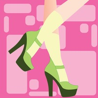 Person wearing high heels on pink background