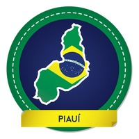Piaui map sticker