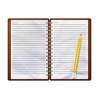 Planner with a pencil