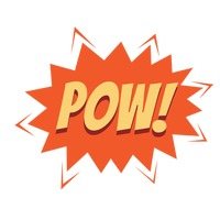 Pow comic speech bubble