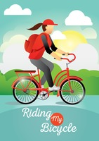 Riding my bicycle poster
