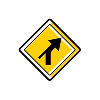 Right curve out intersection warning