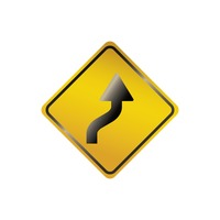 Right reverse curve sign