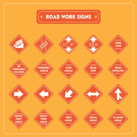Road work signs collection