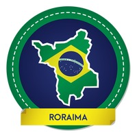 Roraima map sticker