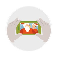 Santaclaus photograph in a smartphone