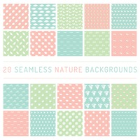Seamless nature backgrounds