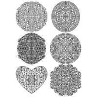 Set of abstract intricate pattern icons