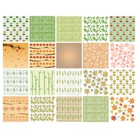Set of abstract leaves backgrounds