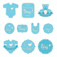 Set of baby boy stickers