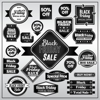 Set of black friday sale stickers