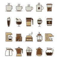 Set of coffee icons