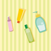 Set of cosmetic bottles