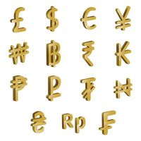 Set of currency icons
