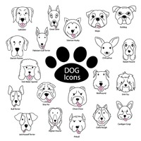 Set of dog icons
