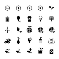 Set of ecology icon
