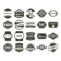 Set of father's day labels