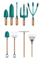 Set of gardening tools