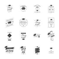 Set of graduation labels