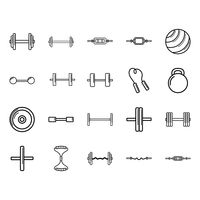 Set of gym equipments