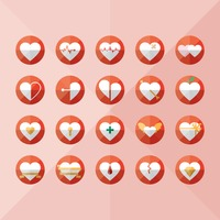 Set of heart icons