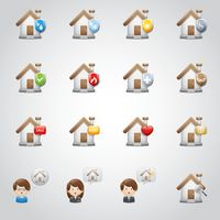 Set of home security icons