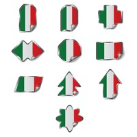Set of italy labels