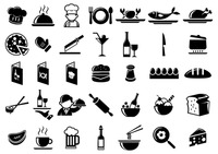 Set of kitchen and food icons