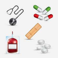 Set of medical items