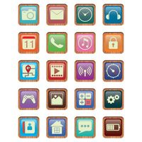 Set of mobile icons