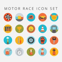 Set of motor race icons